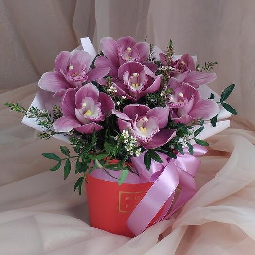 Stylish box with an orchid