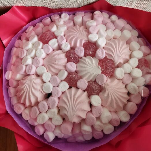 Съедобный букет сладкий из маршмеллоу и зефира
