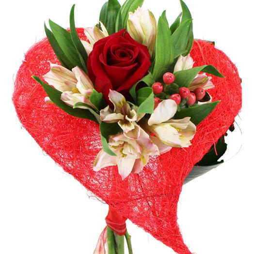 Букет Валентинка: букеты цветов на заказ Flowwow
