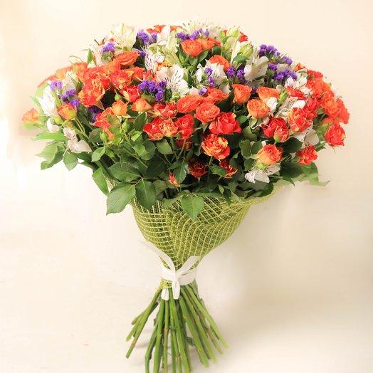 Букет из кустовых роз : букеты цветов на заказ Flowwow