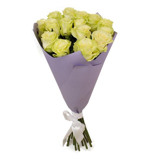 Букет из 15 высоких белых роз: букеты цветов на заказ Flowwow