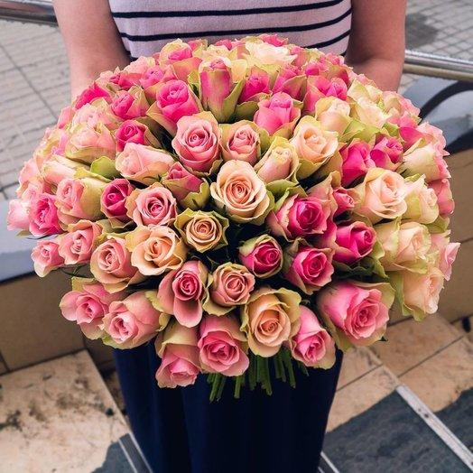 101 роза кения : букеты цветов на заказ Flowwow