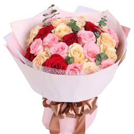 Красивый букет роз: букеты цветов на заказ Flowwow