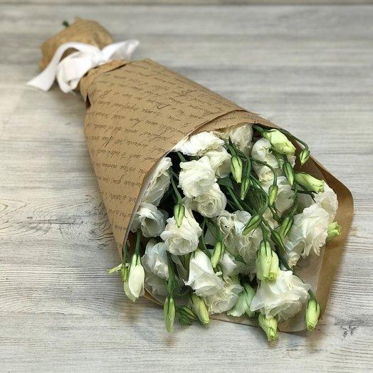 Эустома белая 9 веточек. N191: букеты цветов на заказ Flowwow