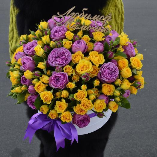 Моей Маме(Топпер в подарок): букеты цветов на заказ Flowwow