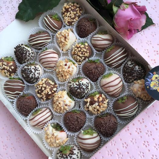 Клубника в шоколаде 30 Шт: букеты цветов на заказ Flowwow
