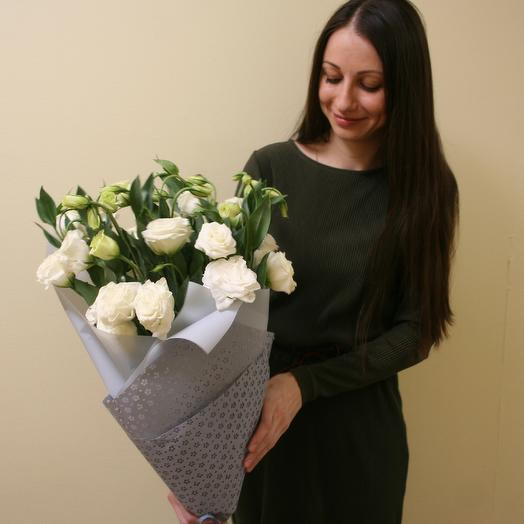Воздушный букет белых эустом: букеты цветов на заказ Flowwow