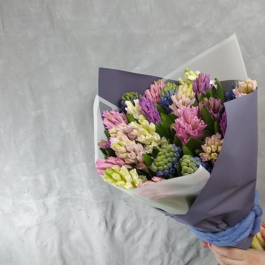 Гиацинтовый микс 25шт: букеты цветов на заказ Flowwow