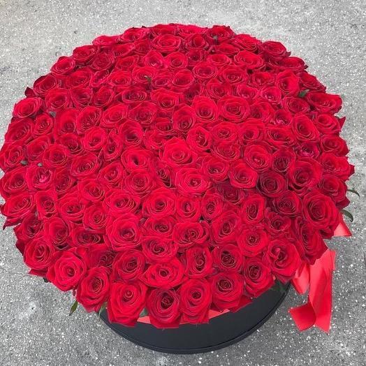 Коробка гигант с розами 2: букеты цветов на заказ Flowwow