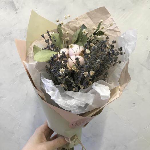 Интерьерный букет с лавандой: букеты цветов на заказ Flowwow