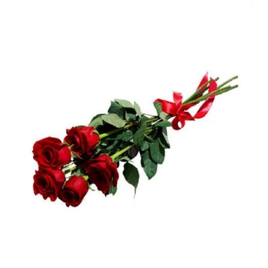 Букет из 5 роз 50 см: букеты цветов на заказ Flowwow