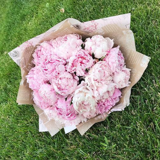 Букет из пионов  Сара Бернар 25 шт: букеты цветов на заказ Flowwow