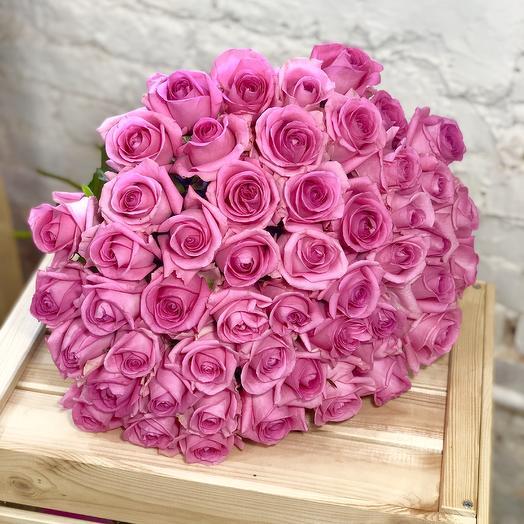 51 розовая роза Ревиваль