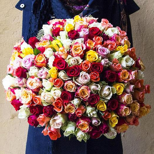 151 роза разноцветная
