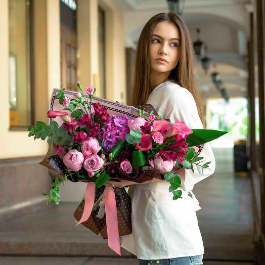 """Букет """"Девушке"""": букеты цветов на заказ Flowwow"""