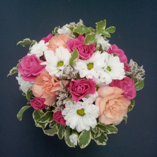 Композиция из разных цветов: букеты цветов на заказ Flowwow