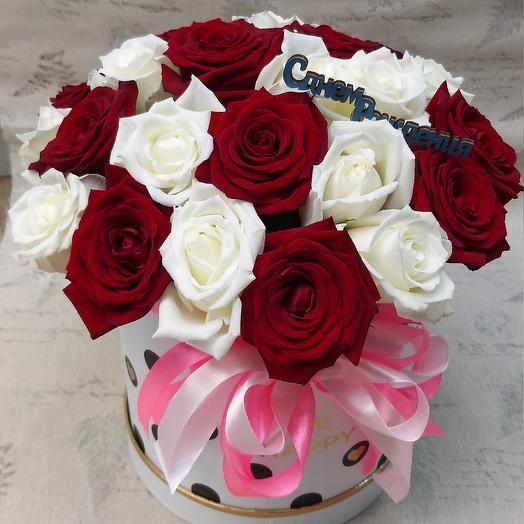 Коробочка , 25 роз