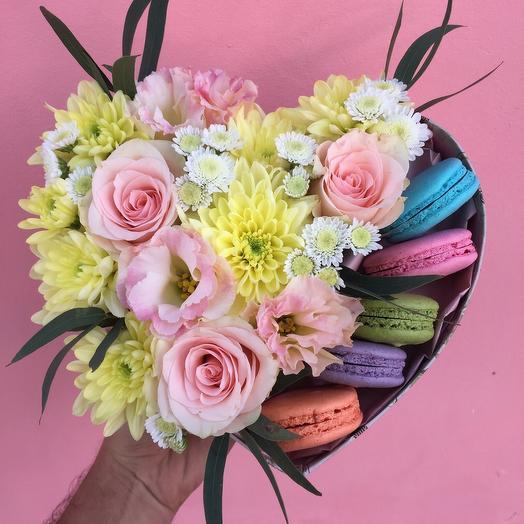 Композиция «Сердце»: букеты цветов на заказ Flowwow