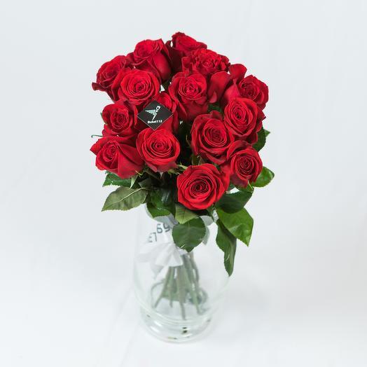 """Букет """"MONORED-15"""" 70 см: букеты цветов на заказ Flowwow"""