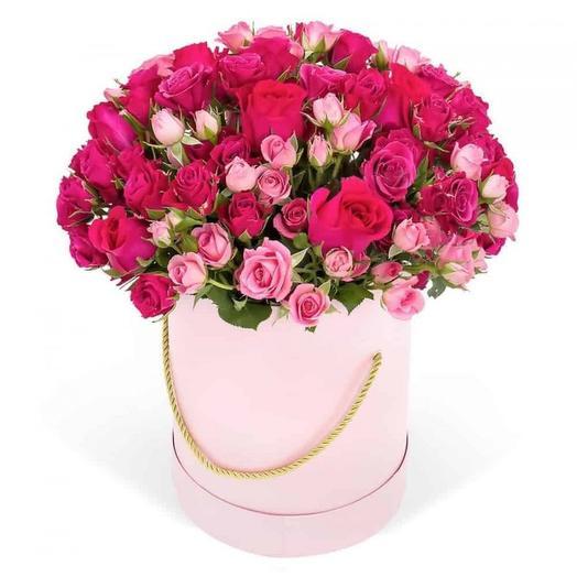 Шляпная коробка 061: букеты цветов на заказ Flowwow