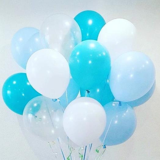 Облако из шаров на выписку для мальчика: букеты цветов на заказ Flowwow