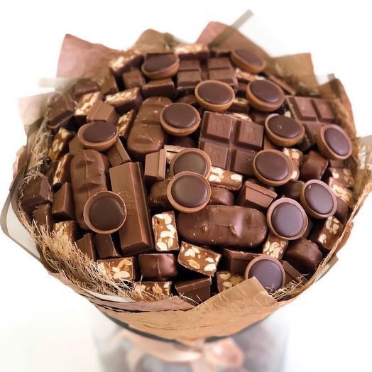 Шоколадный тоффи: букеты цветов на заказ Flowwow