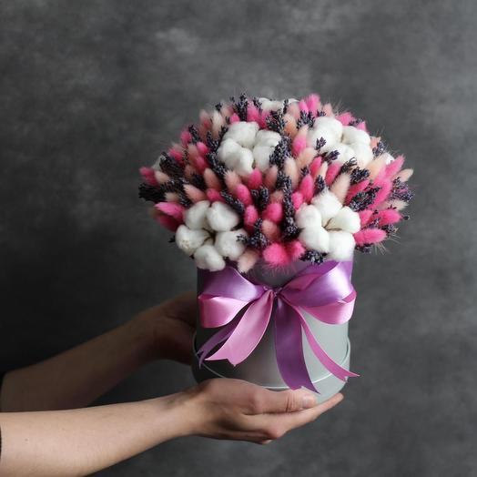 Нежность сухоцветов: букеты цветов на заказ Flowwow