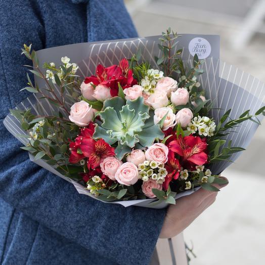 Букет «Коралловый риф»: букеты цветов на заказ Flowwow