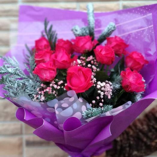 Снежная роза: букеты цветов на заказ Flowwow
