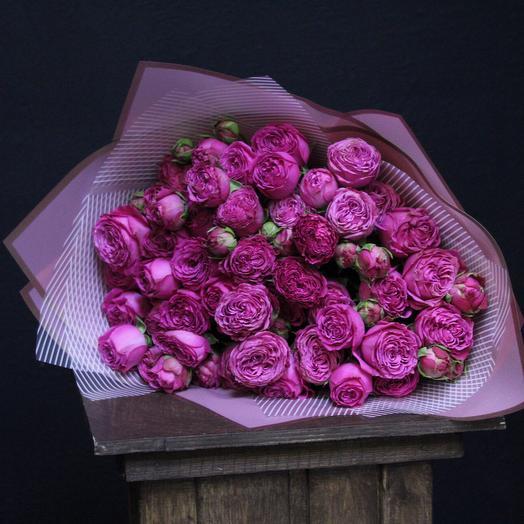 Пионовидные розы «Barcelona»: букеты цветов на заказ Flowwow