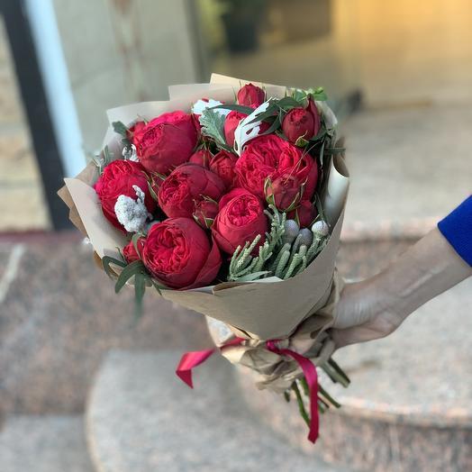 Бордовый каприз: букеты цветов на заказ Flowwow