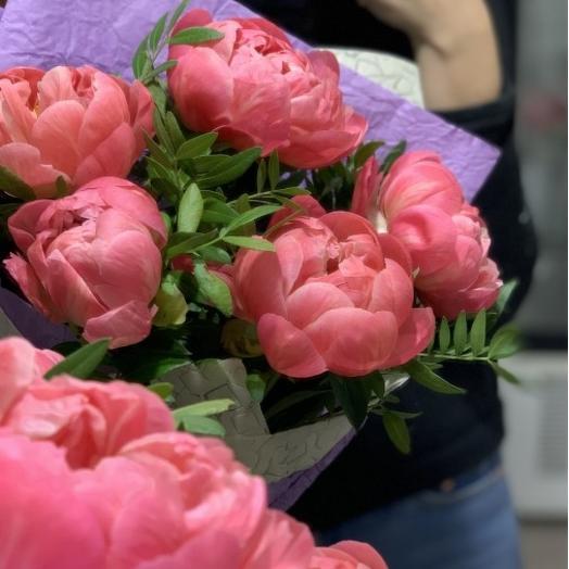 Фламинго пионы: букеты цветов на заказ Flowwow