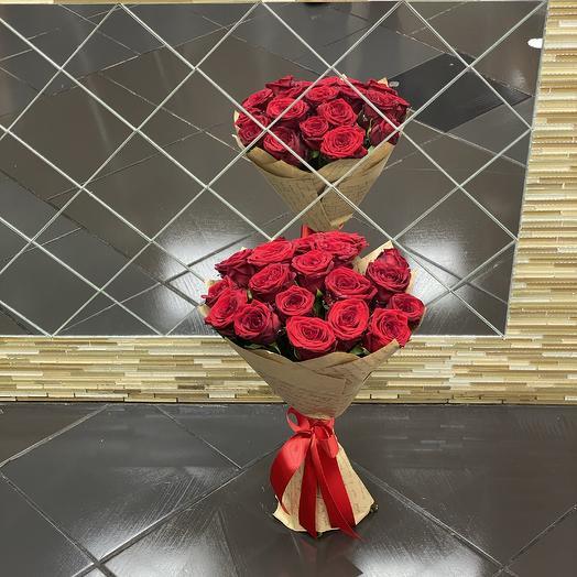 Роза 19шт: букеты цветов на заказ Flowwow