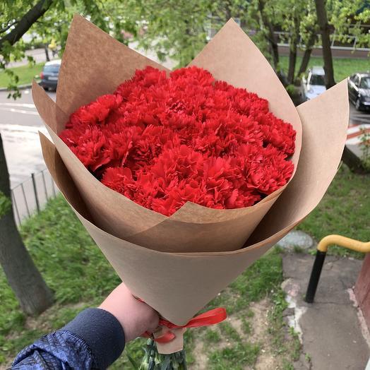 Букет из 21 гвоздики: букеты цветов на заказ Flowwow
