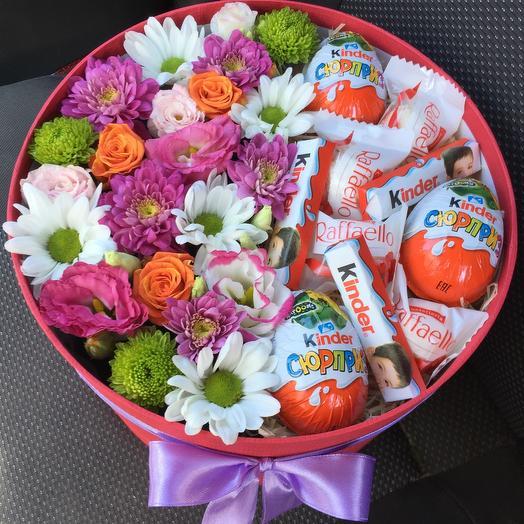 Цветы в коробке 62