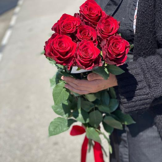 Букет из 7 роз (Эквадор 70 см)