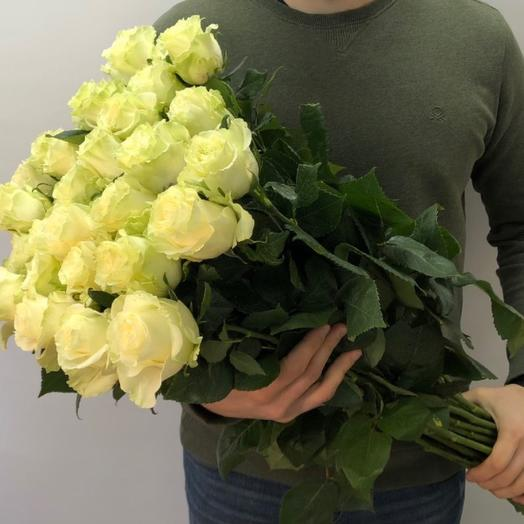 15премиальных роз 80 см