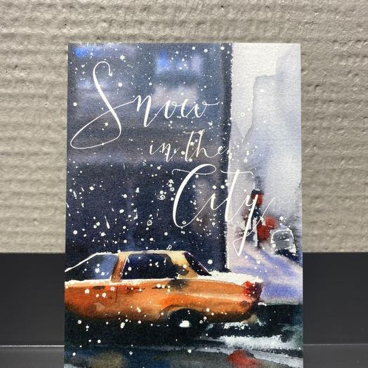"""Открытка """"Snow in the city"""""""
