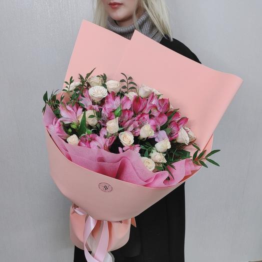 Милый каприз🌸альстромерии и розы