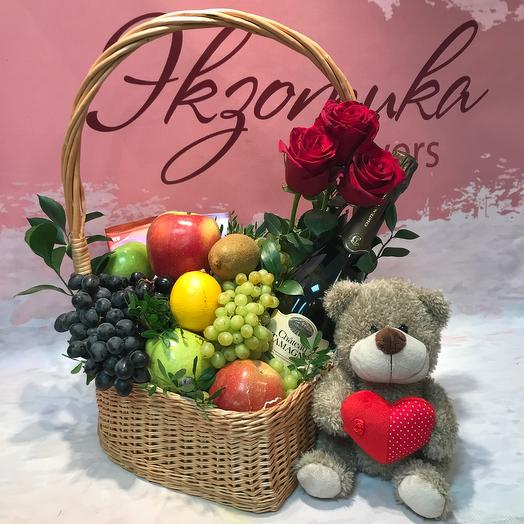 Gift set with fruit