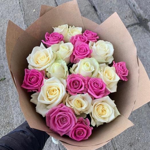 Букет « Розы нежности»  21 шт