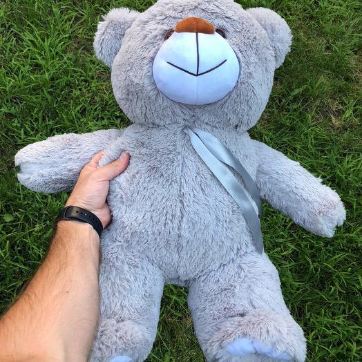 Плюшевий ведмедик 70 см сірий