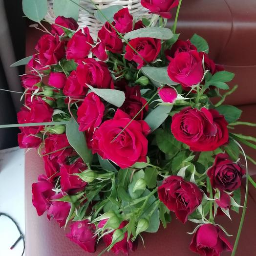 Роза кустовая 9шт