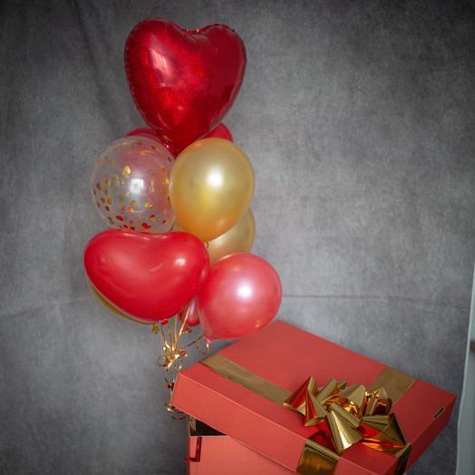 """Коробка с шарами """"Про любовь"""""""