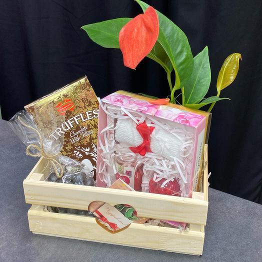 Набор подарочный с антуриумом