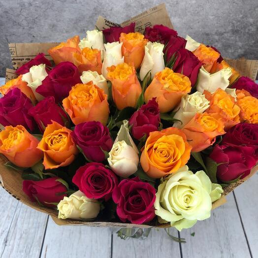 Роза 45шт(Кения)