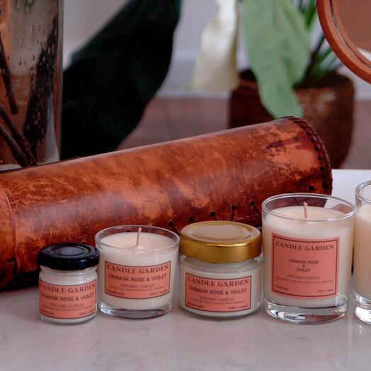 Соевая арома свеча Роза из Грасса, 100 мл, 18 ч горения