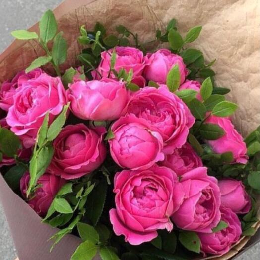 Букет пионовидных роз «Мисти баблс»