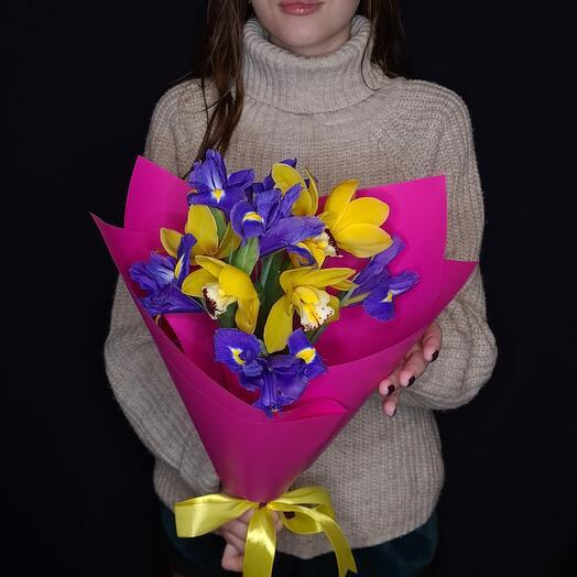 Орхидеи с ирисами