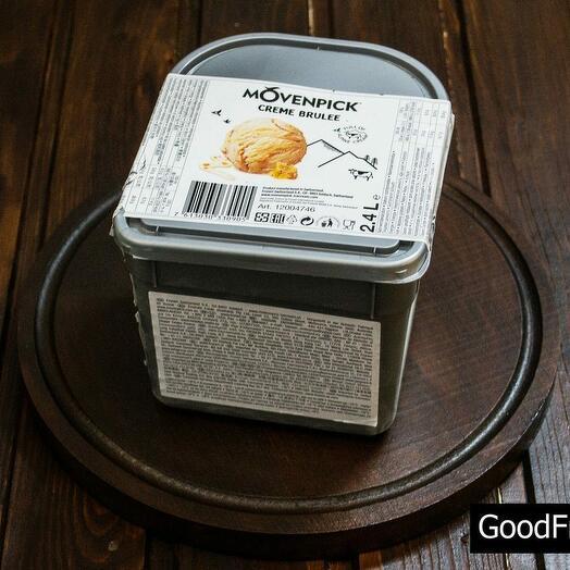 Мороженое со вкусом крем-брюле Movenpick 2.4 л